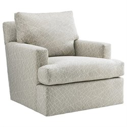 Tommy Bahama Island Fusion Bandar Swivel Chair in Beige