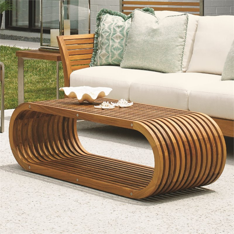Tommy Bahama Tres Chic Patio Coffee Table In Natural Teak 3401 943