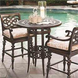Tommy Bahama Black Sands Patio Pub Table in Deep Umber