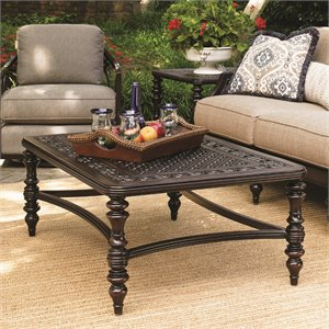 Tommy Bahama Black Sands Patio Coffee Table in Deep Umber