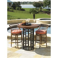 Tommy Bahama Ocean Club Resort Patio Pub Table in Sienna