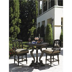 Tommy Bahama Kingstown Sedona Patio Pub Table in Ebony