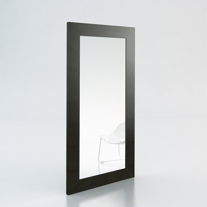 Modloft Norfolk Minimalist Modern Mirror in Wenge