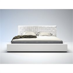 Modloft Madison Bed in White Leather - Queen