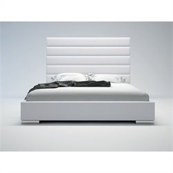 Modloft Prince Bed in White Leather - Queen