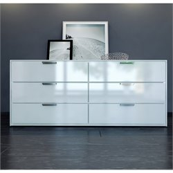 Modloft Thompson Dresser in White Lacquer