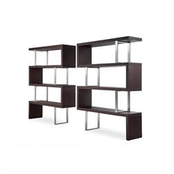Modloft Pearl Modular Wood Wall Bookcase in Wenge