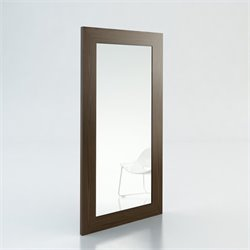 Modloft Norfolk Minimalist Modern Mirror in Walnut