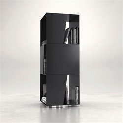 Modloft Bond Bookcase in Black Powder Coat