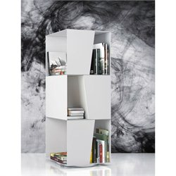 Modloft Bond Bookcase in White Powder Coat