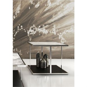 Modloft Ann White Marble Top Side Table in Wenge