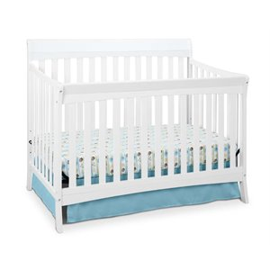 4-in-1 Convertible Crib in White