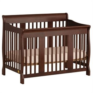 Stork Craft Tuscany 4-in-1 Stages Baby Crib in Cherry