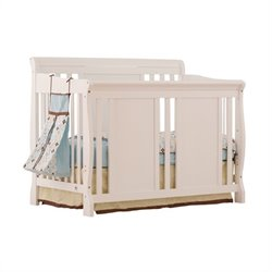 Stork Craft Verona Fixed Side 4-in-1 Convertible Crib in White