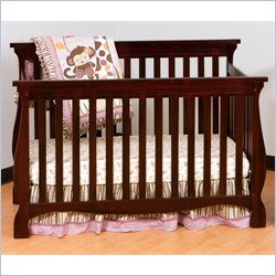 Stork Craft Carrara 4-in-1 Fixed Side Convertible Crib in Cherry