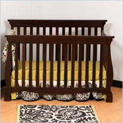 Stork Craft Carrara 4-in-1 Fixed Side Convertible Crib in Espresso