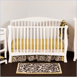 Stork Craft Savona Fixed Side Convertible Crib in White