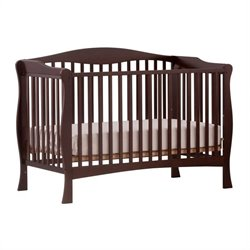 Stork Craft Savona Fixed Side Convertible Crib in Espresso