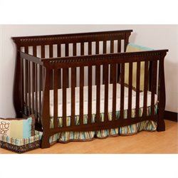 Stork Craft Venetian 4-in-1 Fixed Side Convertible Crib in Espresso