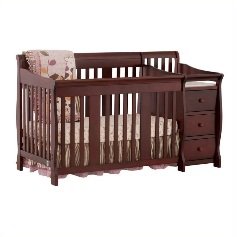 4 In1 Crib U0026 Changer Combo In Cherry