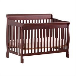 Stork Craft Modena 4-in-1 Fixed Side Convertible Crib in Cherry