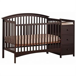 Stork Craft Bradford 4-in-1 Convertible Espresso Crib Changer