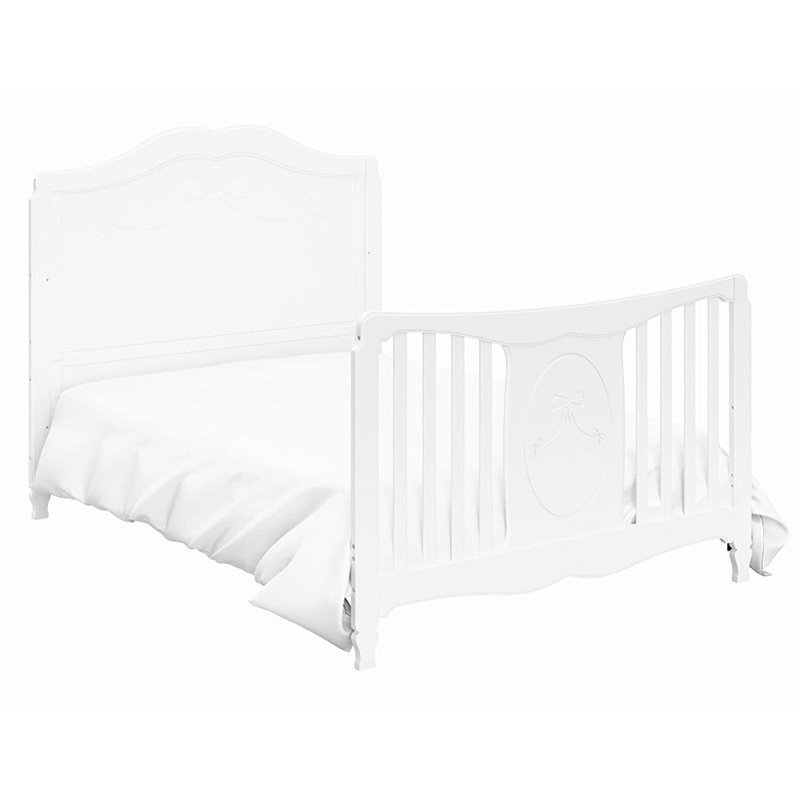 Stork Craft Princess Fixed Side Convertible Crib in White - 04587 ...
