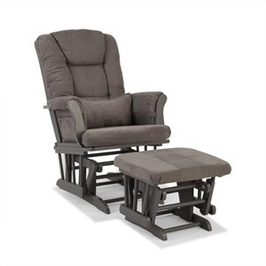 Stork Craft Tuscany Custom Glider and Ottoman in Gray