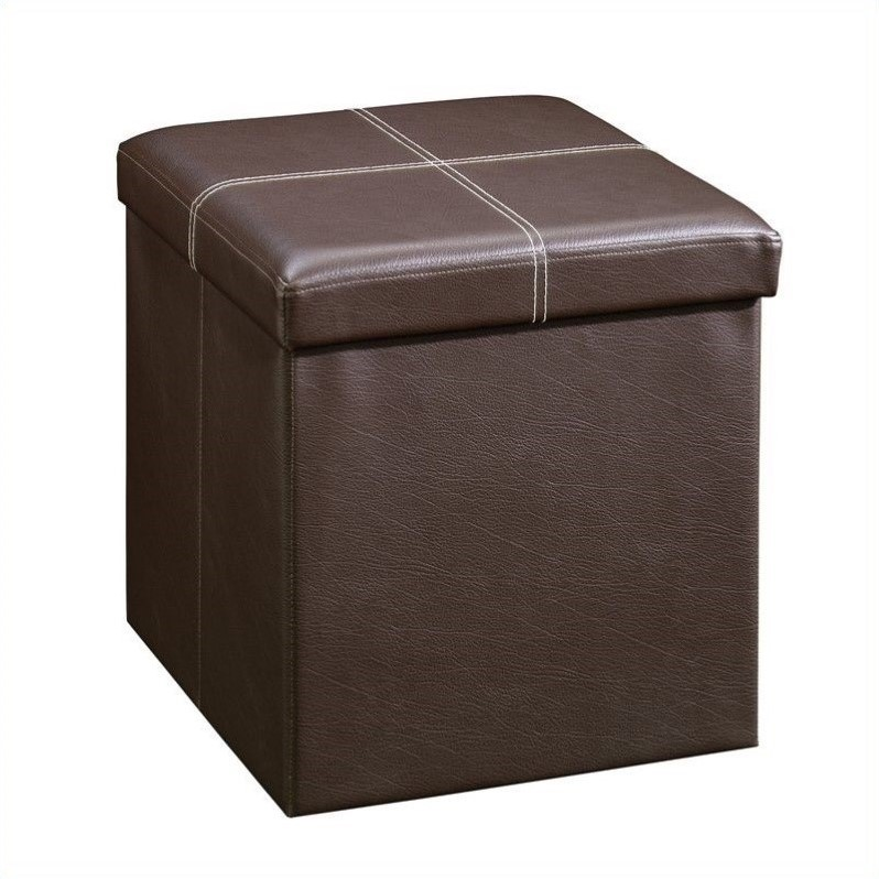 Beginnings Small Ottoman in Brown