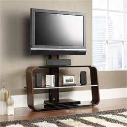 Studio RTA Select Panel TV Stand With Mount in Medium Wood Finish