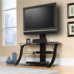 Studio RTA Select Glass Top TV Stand with Mount in Black