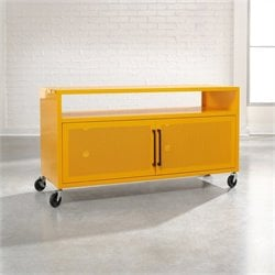 Studio RTA Soft Modern TV Cart in Yellow Saffron