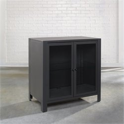 Studio RTA Soft Modern TV Stand in Charcoal Gray