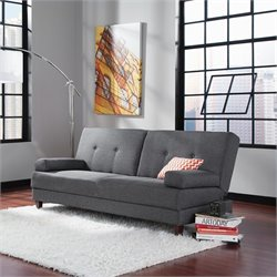 Studio RTA Premier Carver Convertible Sofa in Grey