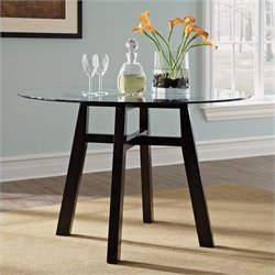 Studio RTA Shoal Creek Round Dinette Dining Table in Jamocha Wood