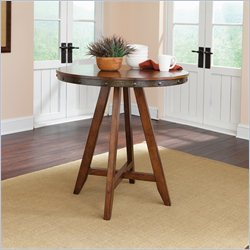 Studio RTA Carson Forge Round Counter Height Table in Washington Cherry