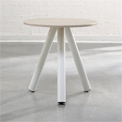 Side Table in Arctic White and Pickled Ash