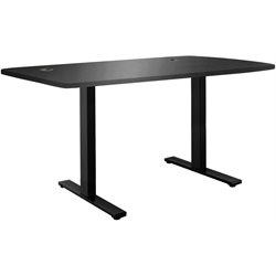 Vifah Smart Electric Sit-to-Stand Computer Desk in Black