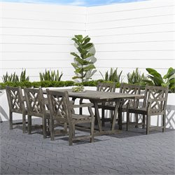 Vifah Renaissance 7 Piece Extendable Hardwood Patio Dining Set