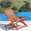 Vifah Relaxer Hardwood Chaise Lounge