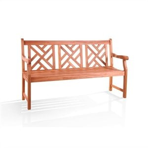 Atlantic Mahogany Shorea Hardwood Bench