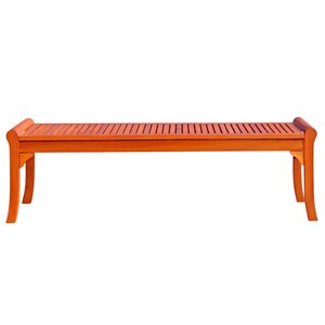 Outdoor Taha Backless 5 foot Bench