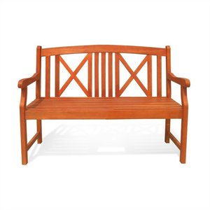 2 Seater Wood Bench
