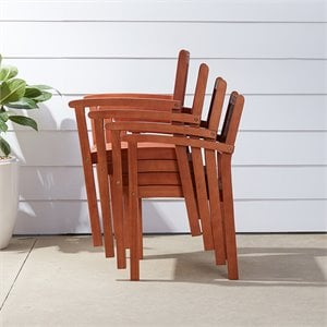 Vifah Stacking Dining Chair (set of 4)
