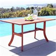 Vifah Outdoor Atlantic Rectangular Table with Curved Legs