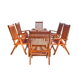 Vifah Balthazar 7 Piece Wood Patio Dining Set
