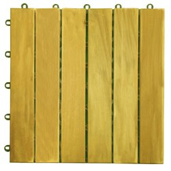 Plantation Teak Interlocking Deck Tile - 6 Slats