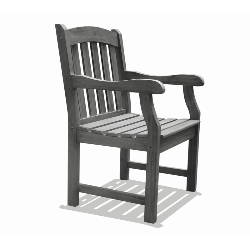 Renaissance Outdoor Hand-scraped Hardwood Armchair