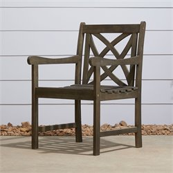 Vifah Renaissance Outdoor Arm Chair in Natural