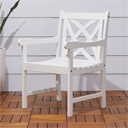 Outdoor Arm Chair in White